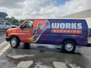 Works Plumbing - Commercial Vehicle Wraps - San Francisco Bay Area